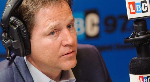 Nick Clegg hosts a weekly 30-minute phone-in on a local London radio station