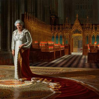 A man has been charged with defacing this portrait of the Queen by Ralph Heimans (Ralph Heimans/Colin White/Max C/PA)