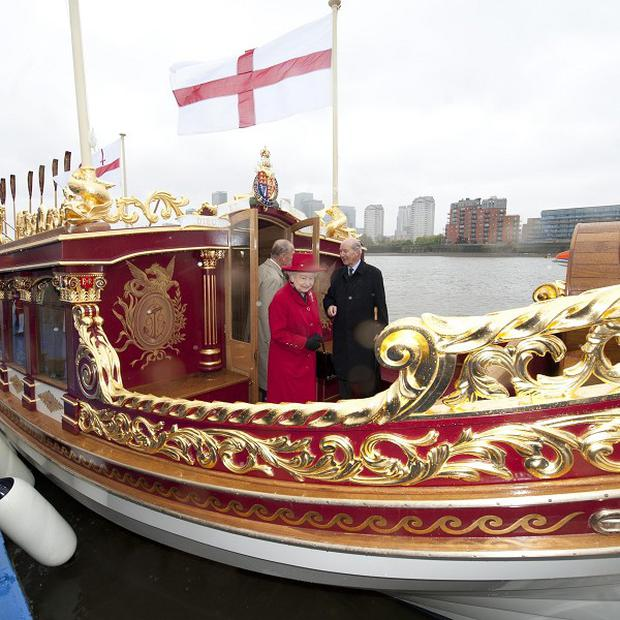 Gloriana, a 94ft vessel decorated with gold leaf and ornately carved, has been damaged after hitting a bridge