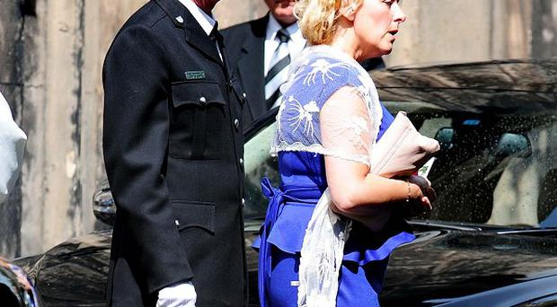 Georgia Williams' father Steven Williams and mother Lynette Williams after their daughter's funeral service at All Saints Church, Wellington