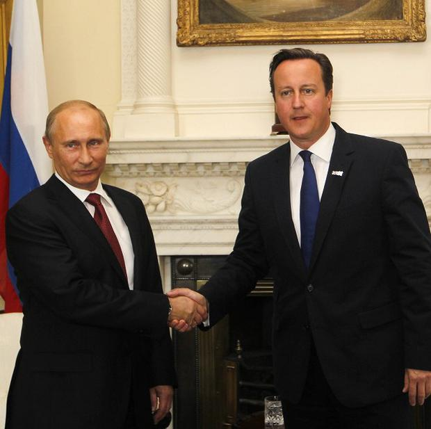 Prime Minister David Cameron and Russia's president Vladimir Putin are to hold talks