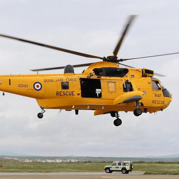 A search operation involved RAF 22 Squadron, the Coastguard and North Wales Police