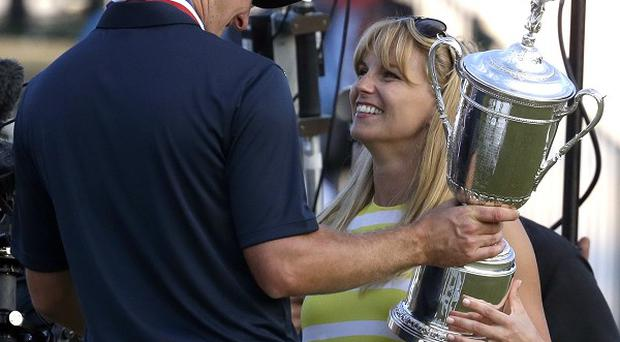Justin Rose and wife Kate after he won the US Open (AP)