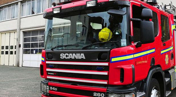 Firefighters are tackling a blaze at the Lawrence Recycling site in Kidderminster