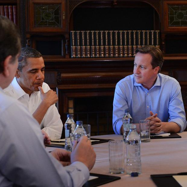 Those around the table included US President Barack Obama, Prime Minister David Cameron and Russian president Vladimir Putin