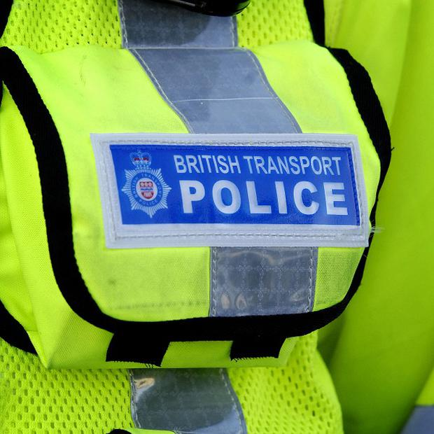 The incident, shortly before 9pm on Monday night, is not being treated as suspicious by British Transport Police
