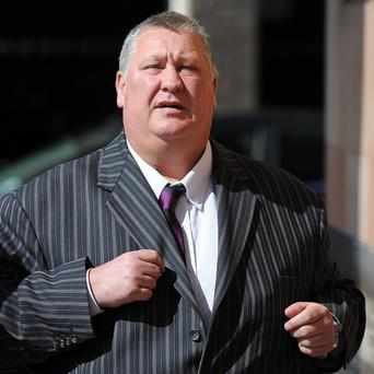 Former Chairman of Cleveland Police Dave McLuckie arrives Newcastle Crown Court