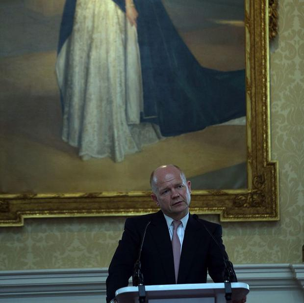 Foreign Secretary William Hague delivers a speech on the importance of Scotland remaining part of the UK at Merchant Hall in Edinburgh