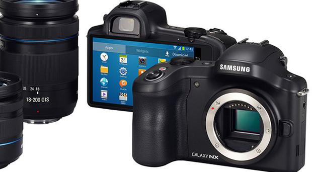 The new Galaxy NX features 3G/4G LTE technology (Samsung Electronics/PA)