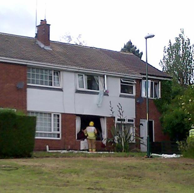 Emergency crews at the scene of a gas explosion in Jarrow, South Tyneside