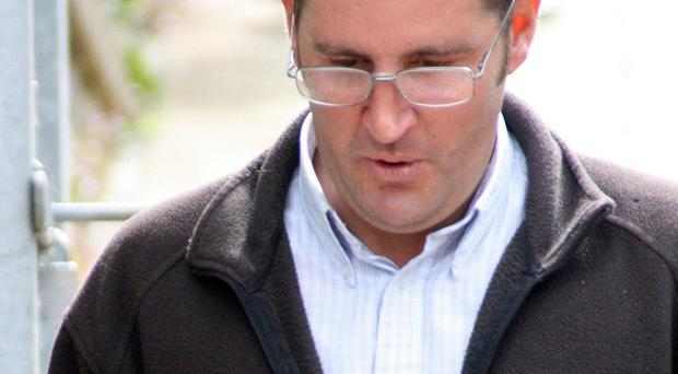 Allan Debenham, 39, leaves South Somerset Magistrates' Court in Yeovil
