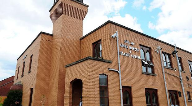 Remains of an explosive were found near Walsall's Aisha Mosque and Islamic Centre last Saturday