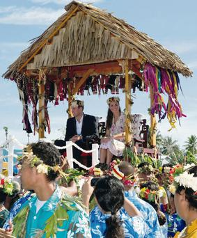 The Duke and Duchess of Cambridge in Tuvalu, Soloman Islands