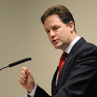 Nick Clegg said a large pay rise for MPs would be unacceptable to voters
