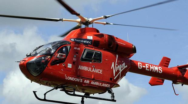 London Air Ambulance was sent to the scene