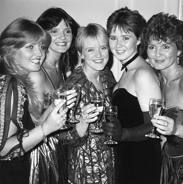 Bernie Nolan, centre, has died aged 52