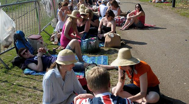 Hundreds of people queued for entry to Wimbledon throughout the competition