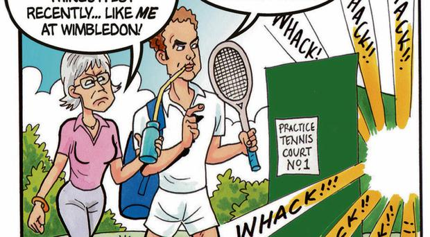 Andy Murray and Judy Murray as they appear in the 75th anniversary issue of The Beano comic