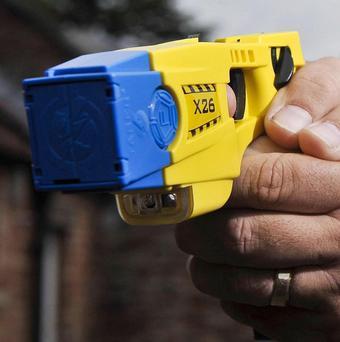 A man has died after a Taser was used on him, Greater Manchester Police said