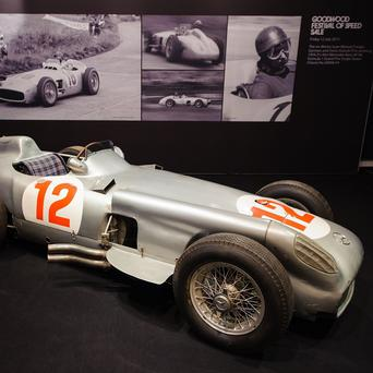The 1954 Mercedes-Benz W196 Formula 1 Grand-Prix single-seater driven by Juan Manuel Fangio