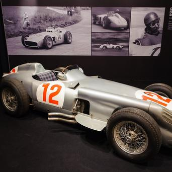 The 1954 Mercedes-Benz W196 Formula 1 Grand Prix single-seater driven by Juan Manuel Fangio