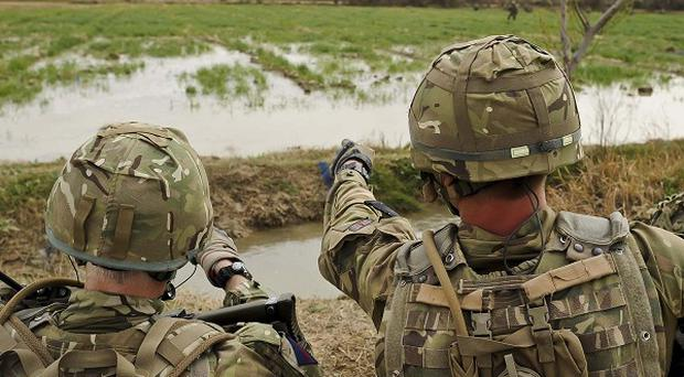 Two British military personnel have died during a training exercise