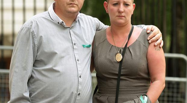 Shirley and Michael Anderson, the parents of Jade Anderson who was mauled to death by dogs
