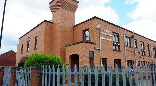 A blast was reported near the Aisha Mosque in Walsall last month