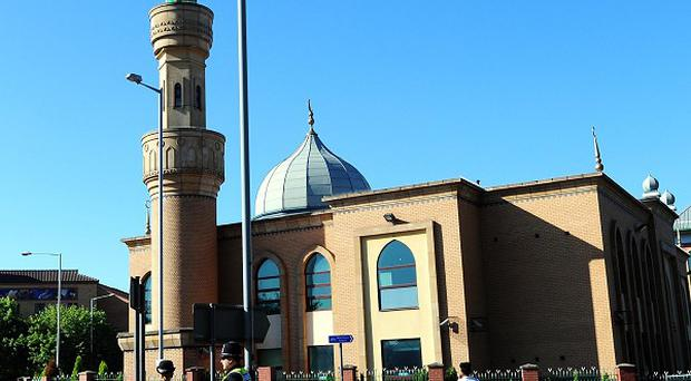 The 'seat of an explosion and debris' were found on a roundabout near the Wolverhampton Central Mosque