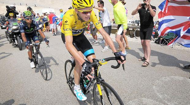 Chris Froome winning the Tour de France in 2013