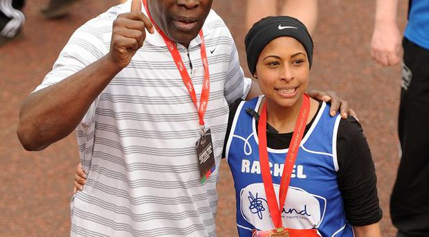 Frank Bruno with his daughter Rachel, who has filmed a documentary about his mental health