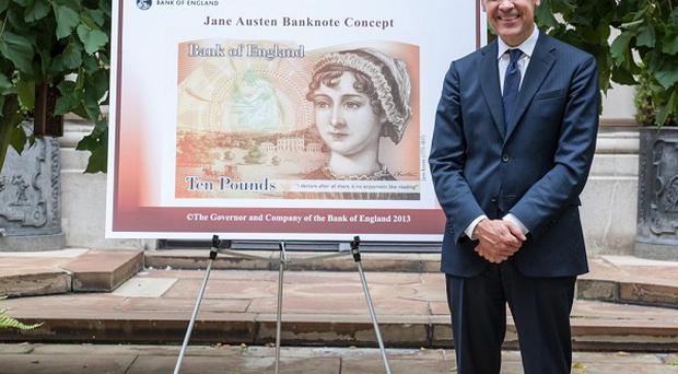 The new 10 pound note with Bank of England chief Mark Carney