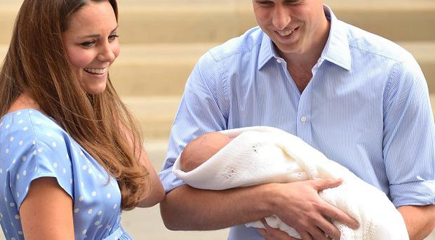 The Duke and Duchess of Cambridge with their newborn son (PA)