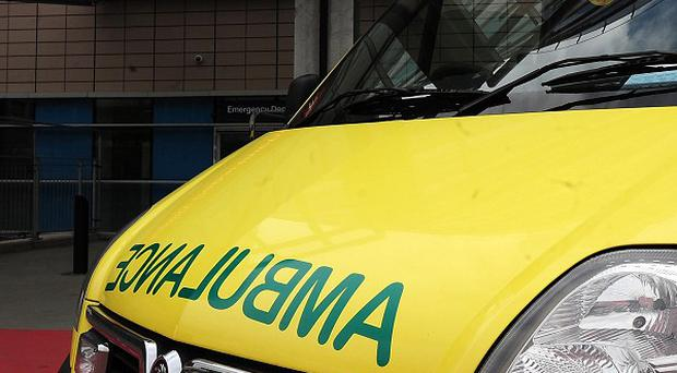 The male police rider was on a marked BMW bike when it collided with a van in Hampshire
