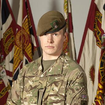 Private Gregg Stone, from 3rd Battalion, The Yorkshire Regiment, was shot dead in Helmand Province on June 3 last year (Iain Hamer/PA)