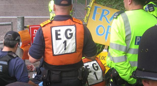 Cuadrilla's operation in West Sussex has been delayed by anti-fracking protests