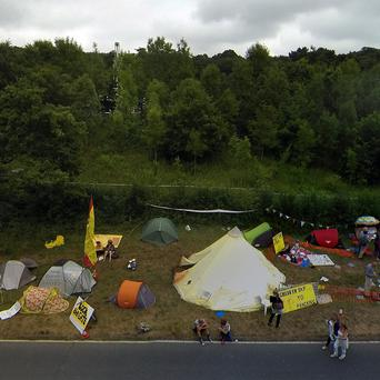 Protests at the Balcombe fracking site in West Sussex