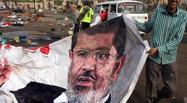 More than 500 people have been killed after Egyptian authorities launched a crackdown on supporters of Mohammed Morsi (AP)