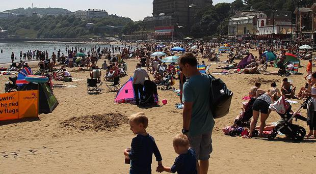 People enjoy the sunshine in Scarborough during the recent heatwave