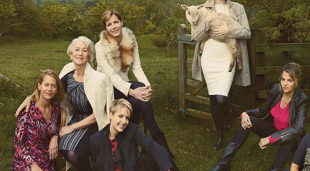 Stars promote the new fashion ranges at Marks and Spencer (Annie Leibovitz/M&S/PA)