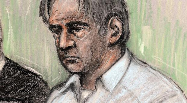 An artist's impression of Domenico Rancadore (Elizabeth Cook/PA)