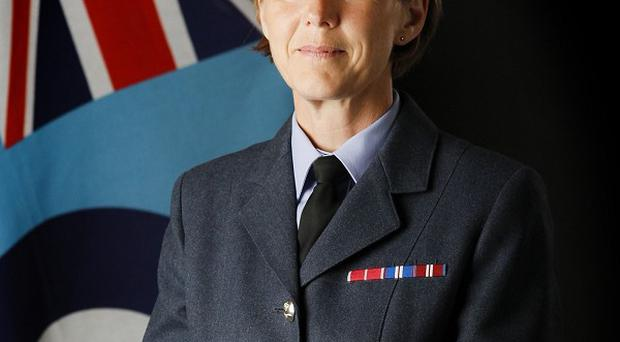 Air Vice-Marshal Elaine West joined the RAF in late 1978, aged 17, in the lowest rank as an aircraftwoman (RAF/MoD/PA)