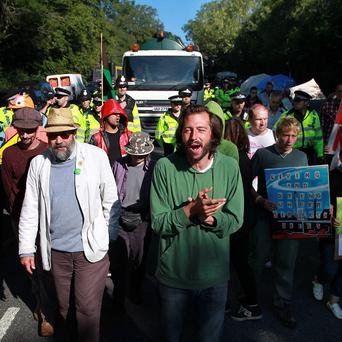 Some 1,000 extra protesters descended on the outskirts of Balcombe for the Reclaim the Power camp