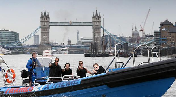 Lookalikes of famous actors at the launch the Thamesjet ride, on the river Thames, London (Matt Sprake/MSP/Flagship Consulting/PA)