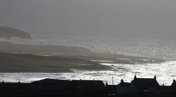 A helicopter has reportedly ditched into the sea two miles west of Sumburgh airport on Shetland
