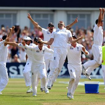 England's cricketers celebrate their Ashes victory