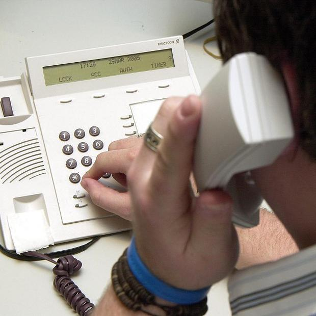 A man set up a premium, rate phone number to make cold callers pay for disturbing him