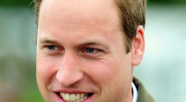 The Duke of Cambridge is making one of his final public engagements on Anglesey