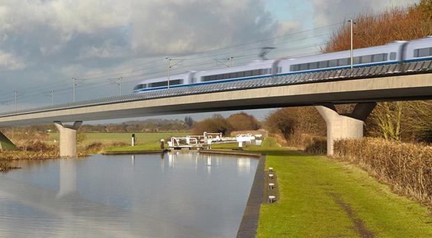 George Osborne said HS2 would 'change the economic geography' of the UK (HS2/PA)