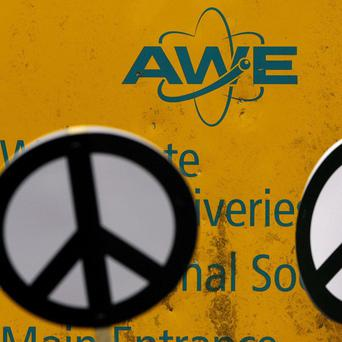 Protesters have been arrested at an Atomic Weapons Establishment (AWE) site